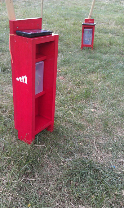 phone booths on governor's island