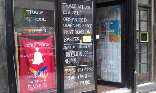 trade school storefront